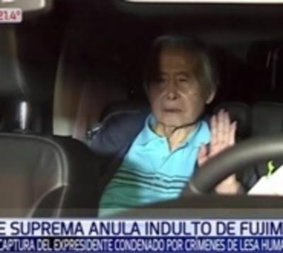 Anulan indulto del expresidente Alberto Fujimori