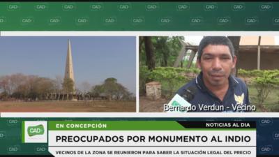 Vecinos preocupados por el monumento al indio