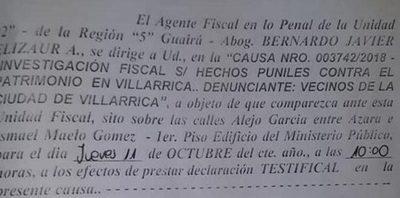Carlos Coronil y el concejal Rubén Martínez fueron convocados a declarar por la fiscalía