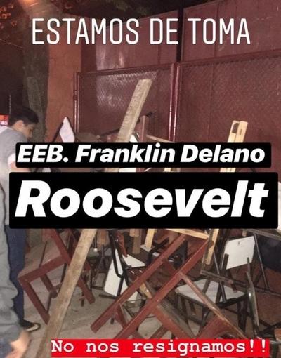 Franklin Delano Roosevelt: Alumnos tomaron la institución