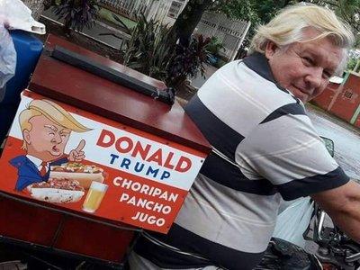 """""""Donald Trump"""", el panchero famoso de Ciudad del Este"""