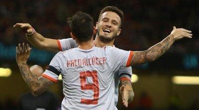 España festeja ante Gales en amistoso