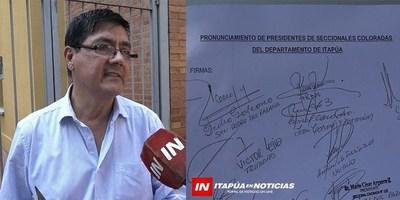 CRISPACIÓN EN LA ANR AFECTA AL CONSEJO DE PRESIDENTES DE SECCIONALES DE ITAPÚA