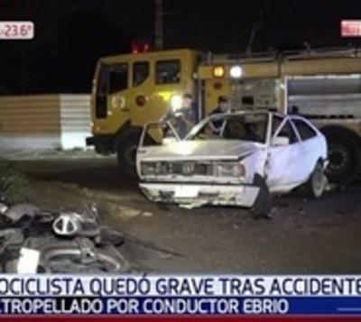 Motociclista sufrió graves heridas tras percance vial