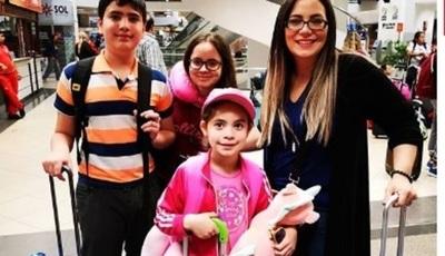 Clara Franco Junto A Sus Hijos Rumbo A Cancún