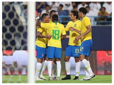 Brasil derrota a la Arabia Saudita de Pizzi