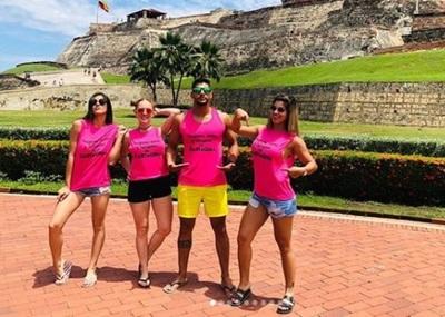 Ex participantes de Calle 7 disfrutan de un crucero en el Caribe