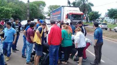 Accidente de tránsito en Ciudad del Este