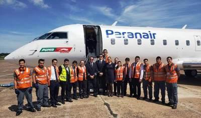 Nueva aerolínea Paranair comenzó a operar en el país