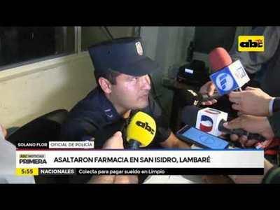 Asaltaron farmacia en San Isidro, Lambaré