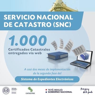 Catastro ya procesó 1.000 certificados de expediente electrónico