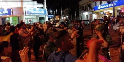 Concepción: Incidentes y represión policial contra manifestantes