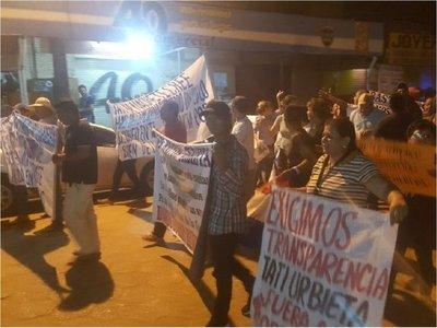Caldeado ambiente en Concepción por marcha contra intendente