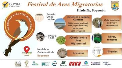 Festival de Aves Migratorias en el Chaco este sábado