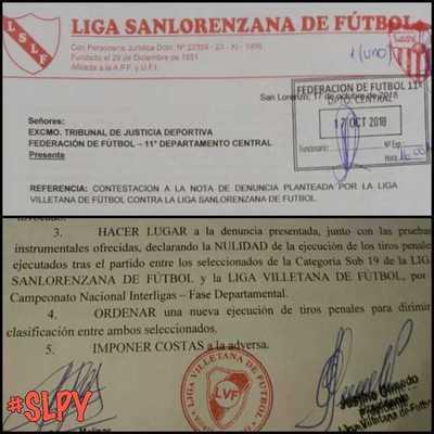 Liga Sanlorenzana responde protesta de Villetana