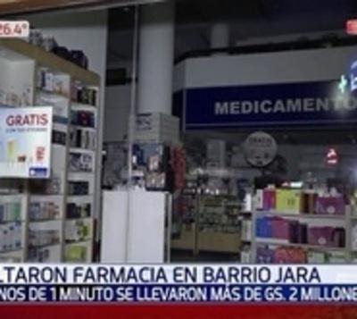 Motochorros se llevan más de G. 2 millones de una farmacia