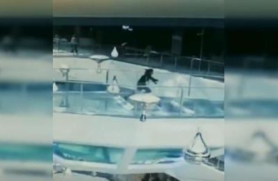 Mujer cae a un tanque lleno de tiburones cuando iban a ser alimentados