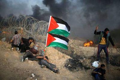 Miles de palestinos manifiestan en Gaza en medio de un clima de tensiones