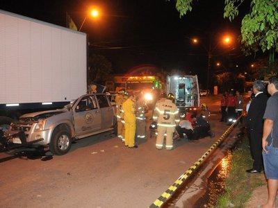 Aspirante a policía muere en choque a bordo de vehículo estatal
