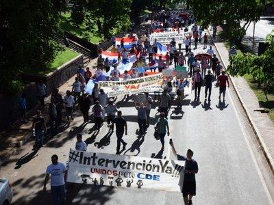 Marcha para pedir imputación del clan Zacarías e intervención de comuna