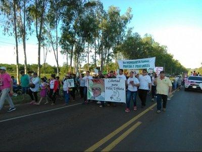 Marcha por la paz y la vida en Horqueta