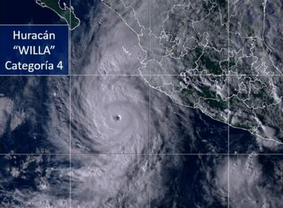 Huracán Willa alcanza la categoría 5 y se dirige a México