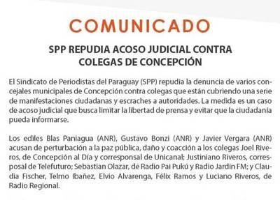SPP respalda a periodistas de Concepción