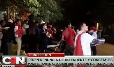 Disturbios y heridos durante escraches en Concepción