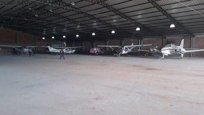 """""""Narco-hangar"""" no fue habilitado por la Dinac"""