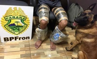 Vestido de Hachís, fue detenido por policía brasileña
