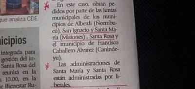 No hay ningún pedido de intervención para municipios de Misiones