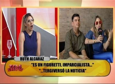 """Ruth Alcaráz a Carmiña Masi: """"Te burlabas de mi marido por ser policía y ahora estás con un asadero"""""""