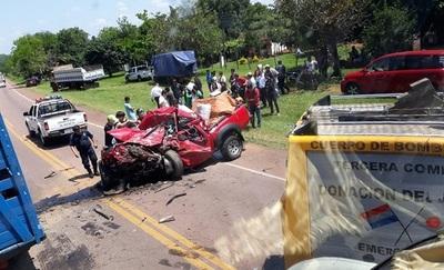 Fatal percance deja una fallecida y varios heridos en Quiindy