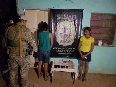 Mujeres caen con drogas en Concepción