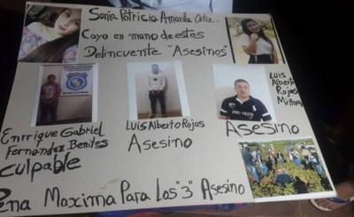 Piden máxima condena para supuestos asesinos de Patricia Amarilla