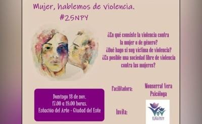 Invitan a conversatorio sobre violencia contra la mujer