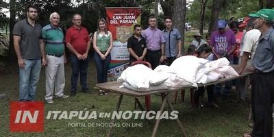 ENTREGAN INSUMOS AGRÍCOLAS A PEQUEÑOS PRODUCTORES DE SAN JUAN DEL PNÁ.
