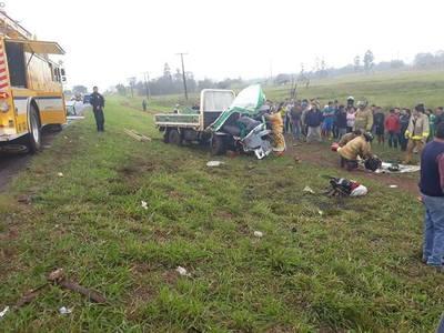 Percance rutero deja un muerto y dos heridos sobre la ruta 6ta.