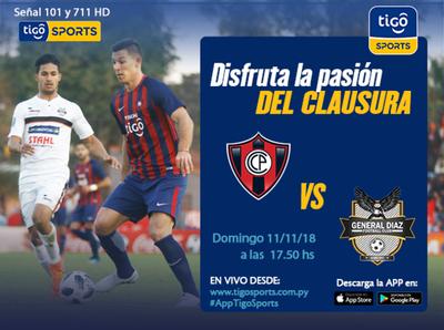 Cerro Porteño vs. General Díaz