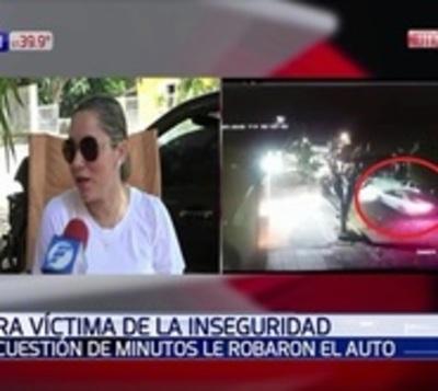 Solitario ladrón robó auto de periodista en cuestión de minutos