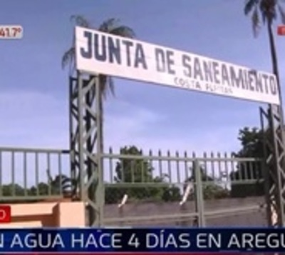 Areguá: Familias denuncian falta de agua desde hace días
