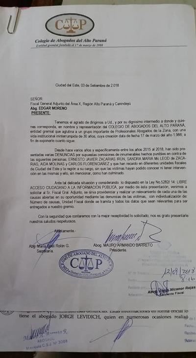 """Abogados cuestionan tibia actitud de fiscal adjunto sobre denuncias contra el clan ZI y lo tratan de """"vacilante"""""""