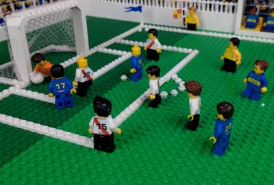 Los goles al estilo Lego