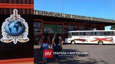 AUMENTAN CONTROL POLICIAL EN LA TERMINAL DE ENCARNACIÓN.