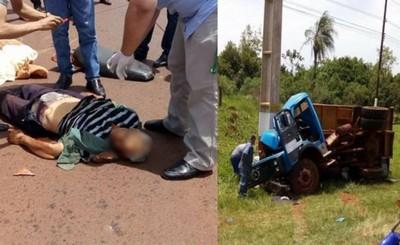 Motociclista muere tras evadir un bache y ser embestido por un camión