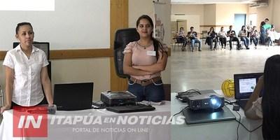 CAPACITAN A AGENTES COMUNITARIOS DE TODAS LAS USF DE ITAPÚA.