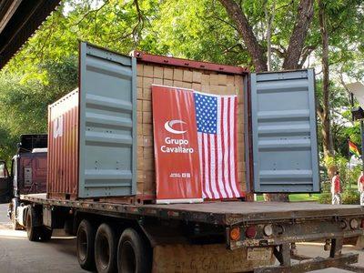 Primera carga de jabón nacional embarca rumbo a EE.UU