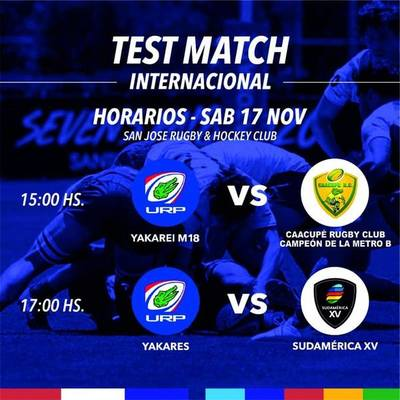 Los Yakarés se preparan para su test match contra Sudamérica XV