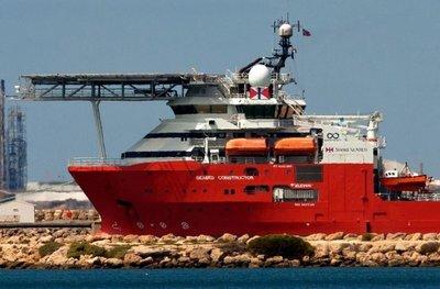 El barco usado en búsqueda de submarino argentino pone rumbo a Sudáfrica