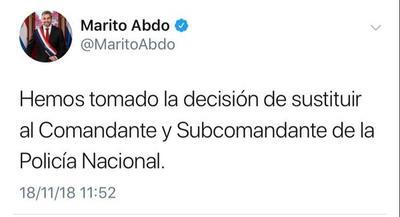 Mario Abdo Benítez cambiará al Comandante y Sub Comandante – Prensa 5